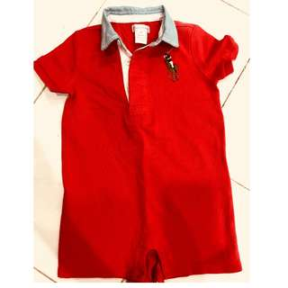 Original Ralph Lauren Romper 18 months red