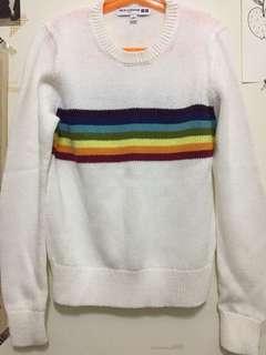 🚚 Uniqlo 🌈 彩虹針織上衣