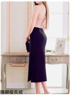 🚚 熱銷現貨$590今天訂明天出❤️   #韓妞最愛高品質正韓開衩高腰顯瘦長裙