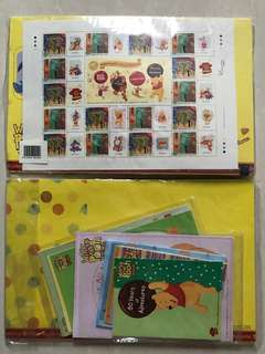 Disney Winnie the pooh80週年珍藏版郵票套裝(連環保袋)