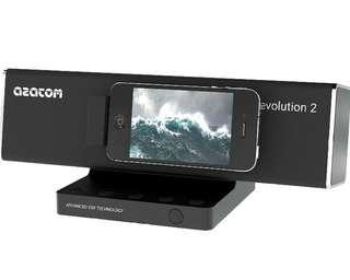 AZATOM® Revolution Docking station: Amazing sound - 40 Watts - latest DSP Technology - Digital Amplifier - Unique Design - Pivot Feature - Full Remote Control -
