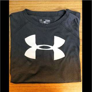 🚚 Under Armour Tech Big Logo T-Shirt  Blcak  - YLG