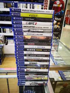 Ps4 Games each below RM100 new and sealed free postage 0124140307 WhatsApp now got discount 6 % until 30th June 2018