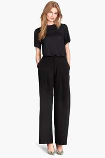 H&M Black Wide Leg Pants