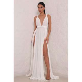 Abyss by Abby Aphrodite Gown in white (rent or buy)