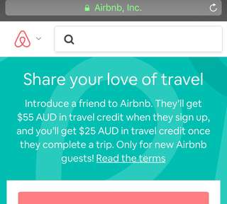 $55 credit on Airbnb