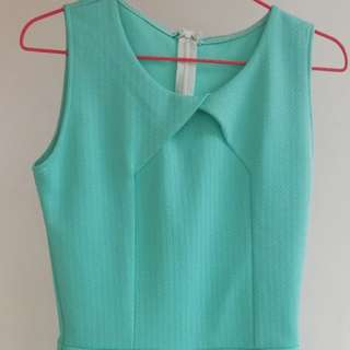 Mint green romper