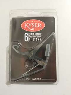 Kyser Capo 6 Quick-Change For Six string Acoustic Guitars