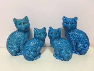 Blue cats vintage collectible