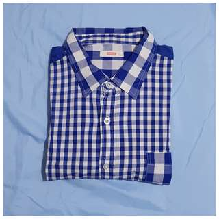 Bench™ Checkered Long-Sleeved Polo - L