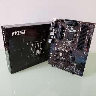 MSI Z370-A PRO 主機板 Motherboard Z370 [保養至10/2020]