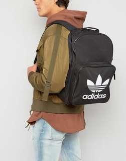 Authentic Adidas Originals Trefoil Logo Black Backpack