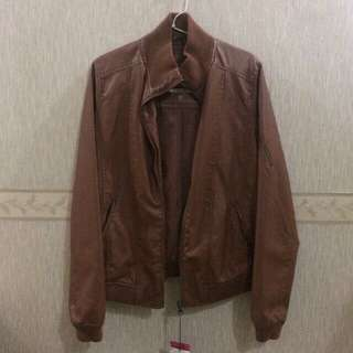 NEW Bershka Faux Leather Jacket