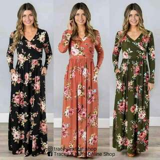 Mango Inspired Floral Maxi Dress