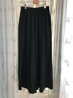 全新黑色長闊腳褲