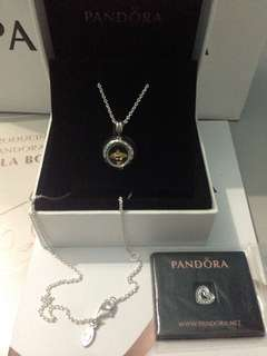 Pandora Necklace + 2 Charm