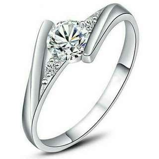 925 Sterling Silver Engagement Ring