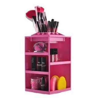 360 rotating cosmetics storage box(pink)