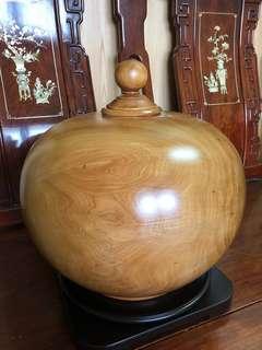 🚚 割愛收藏品~台灣肖楠極沉重油大聚寶盆~直徑寬31公分,高度33公分