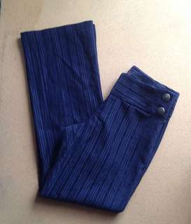 Black velvet high waist pants