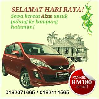 PERODUA ALZA FOR RENTAL - RAYA PROMO!