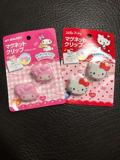 Sanrio Magnet 文件夾 ($15一款)