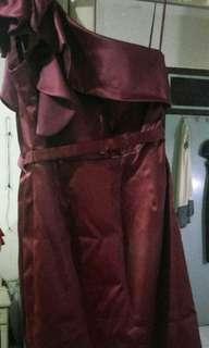 Ciel Maroon Semi Dress