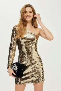 BNWT GOLD SEQUINED DRESS