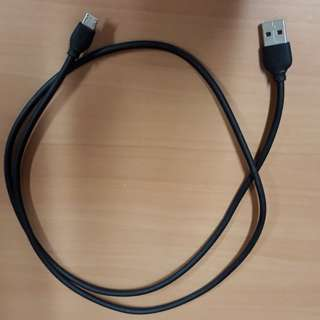 USB 2.0 micro-B USB Cable (1m Length)