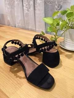 Zara Tassled leather heels (preloved)