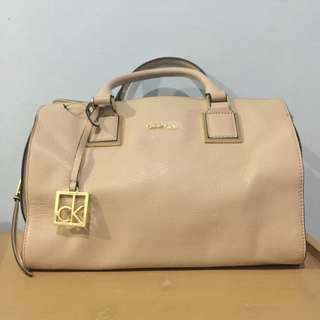Calvin Klein Cecilia Leather Duffle Satchel