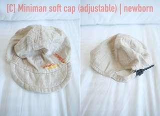Miniman adjustable soft cap; newborn