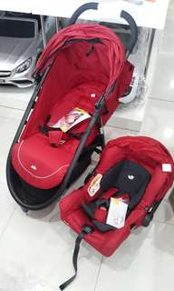 Preloved Joie Litetrax 3 Travel System with Gemm / Carseat