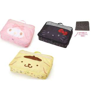 TRAVEL ORGANIZER*ESSENTIAL NECESSITIES*POUCH*BAG*ZIP*ACCESSORIES*FOLDABLE*BAG IN BAG*MY MELODY*SHOES*ORIGINAL