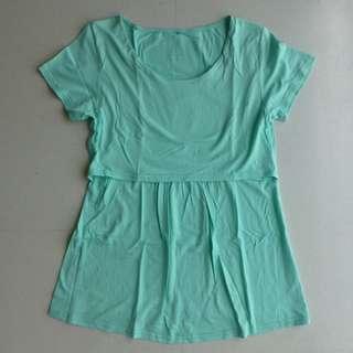 Aqua / Light Green Nursing Top