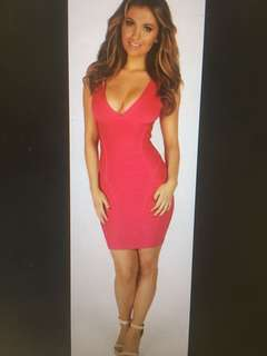 Cherry Red Sexy Bandage Dress