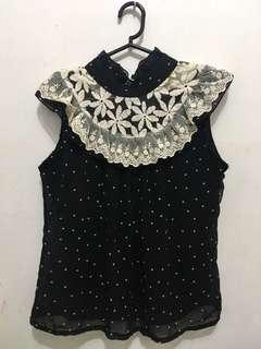 Chiffon blouse with lining