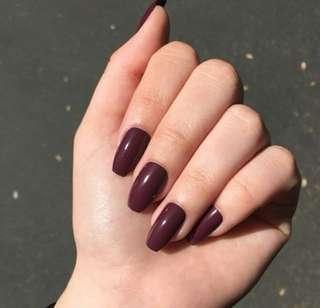 Fake Nails Colour (brown)