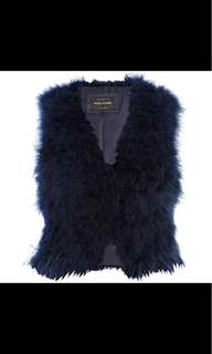Royal Blue Ostrich Gilet