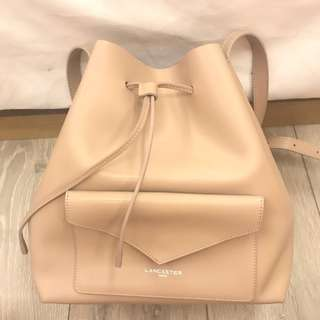 LANCASTER pur smooth nude LARGE bag