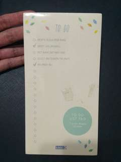 kikki K. To-do list. pad [BNIP]