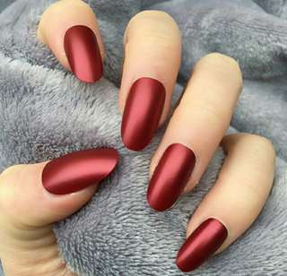Fake Nails Colour (merah)