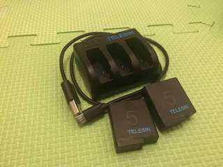 Telesin Batteries for GoPro Hero 5