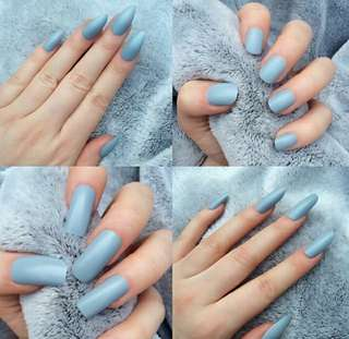 Fake Nails Colour (baby blue)