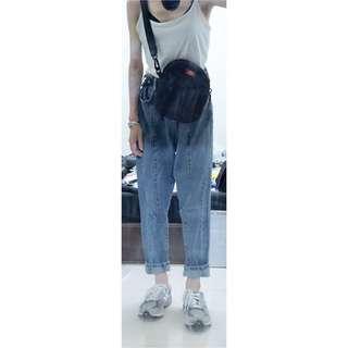 男友褲 淺色牛仔褲 丹寧褲 另售 dickies 小包 側背包