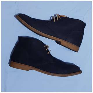 [repriced] H&M® Blue Suede Boots - 45