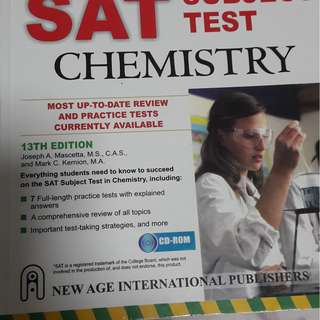SAT chemistry subject book