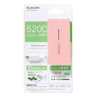 全新日本 ELECOM Mobile Battery Charger 隨身手機充電器 5200 mAh