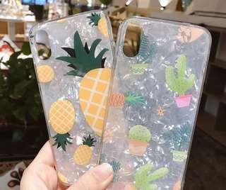 菠蘿/仙人掌貝殼紋手機殼6/6s 7/7plus 8/8plus