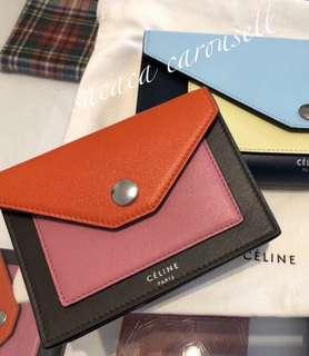 Celine Card holder Wallet purse coin case 卡片袋 卡片包 散紙包 卡包 卡片夾